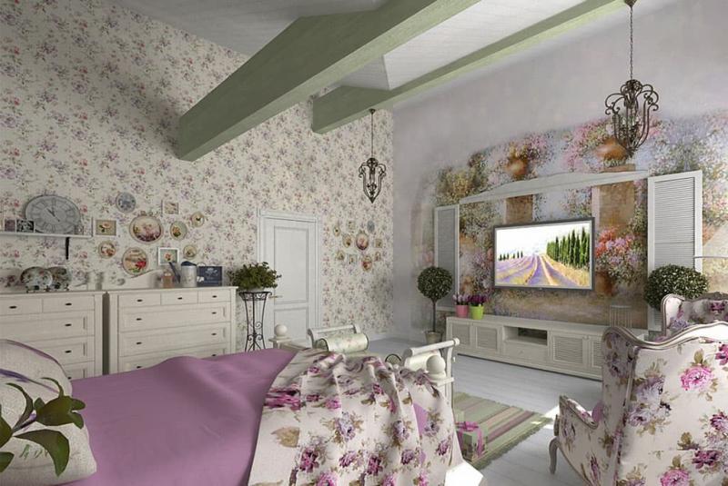 Аксессуары для спальни в стиле прованс 5