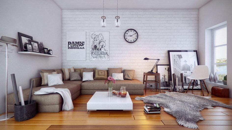 Дизайн интерьера комнаты выполнен в спокойном и умиротворенном стиле, способствующий созданию уютной атмосферы