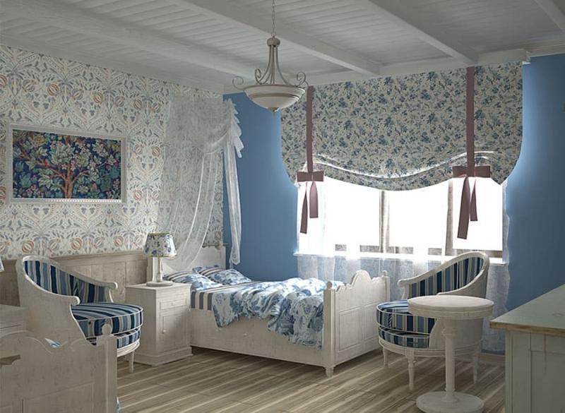 Спальня в стиле прованс в квартире 4