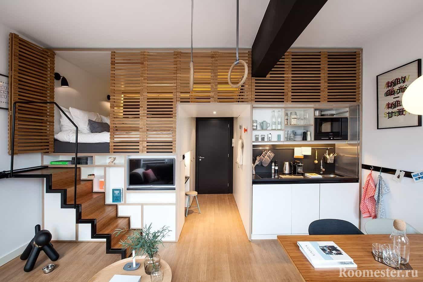 Небольшая квартира в стиле лофт