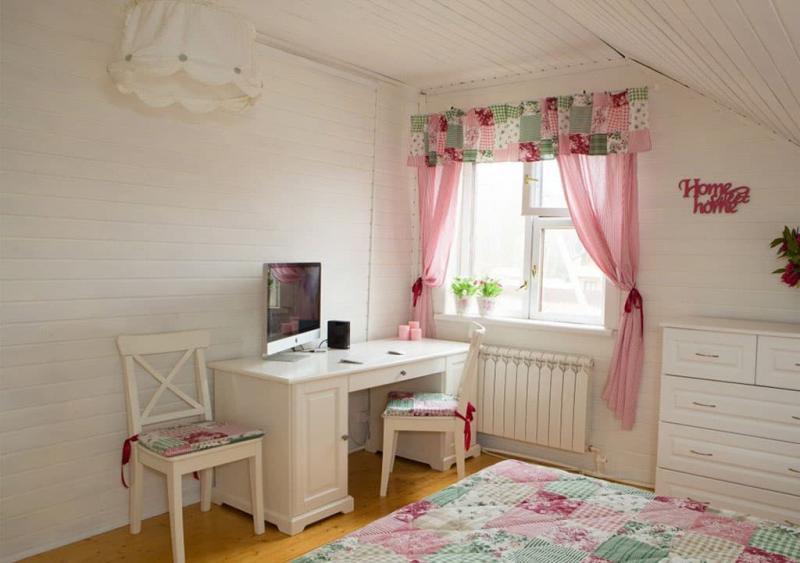 Текстиль для спальни в стиле прованс 6