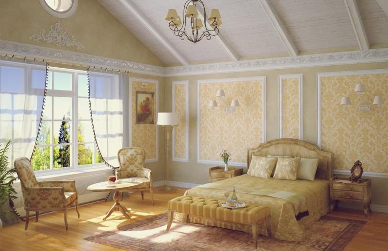Пол в спальне в стиле прованс 5