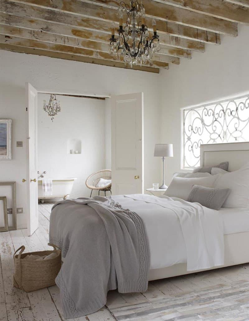 Спальня в стиле прованс в частном доме 4