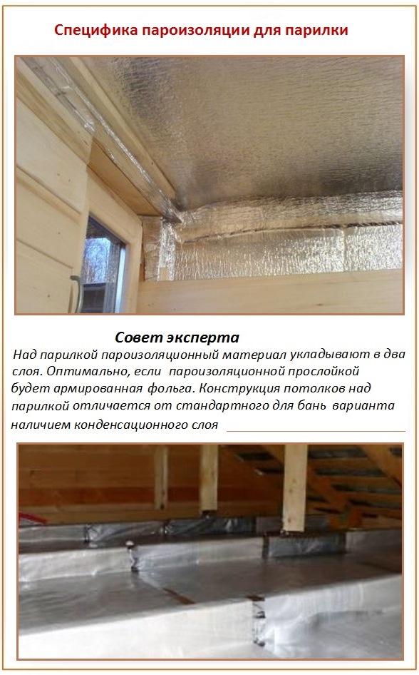 Как провести утепление потолка бани своими руками и изолировать парилку