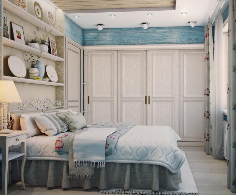 Пол в спальне в стиле прованс 4
