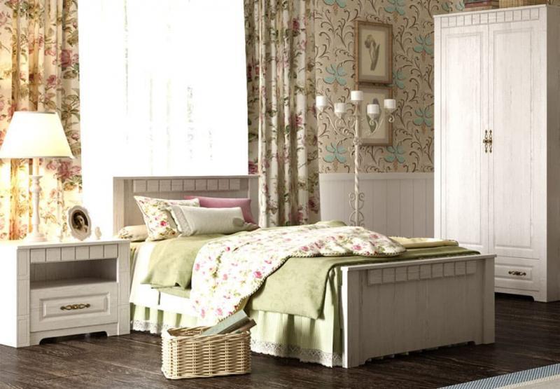 Кровать для спальни в стиле прованс 6
