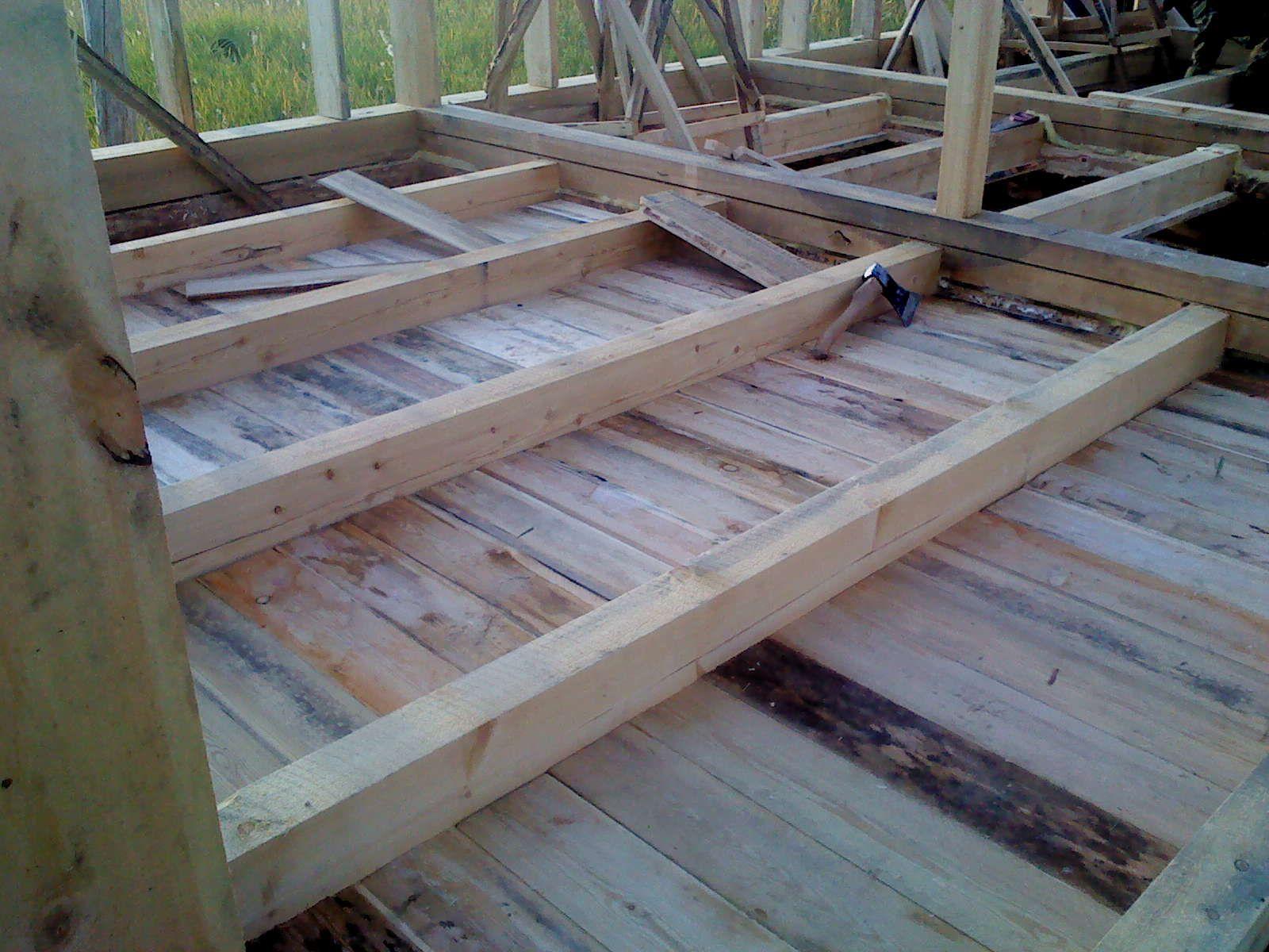 Деревянные полы для пристройки