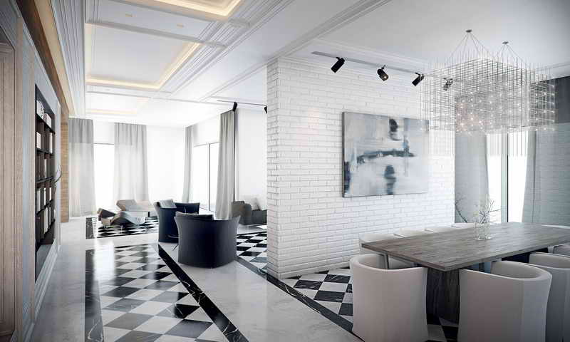 Изображение искусства на белой колонне