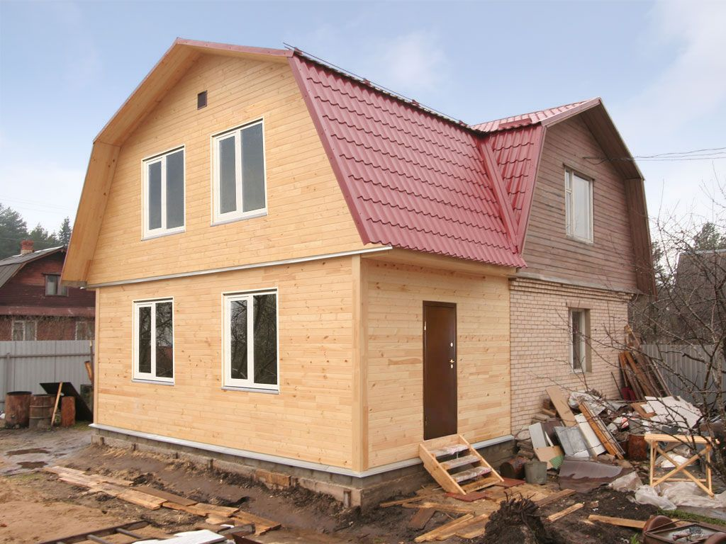 Каркасная жилая пристройка к дому
