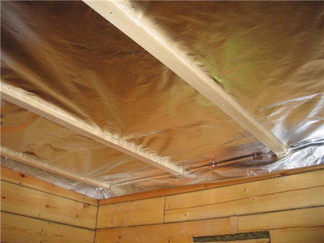 Как утеплить потолок в бане: современные материалы и технология работ