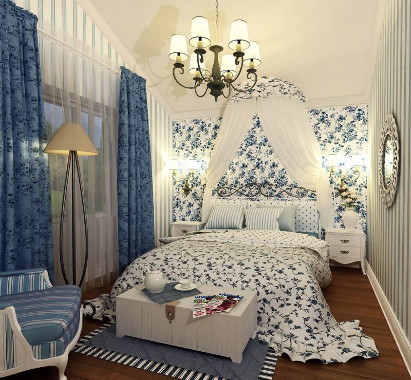 Принты в прованской спальне 4