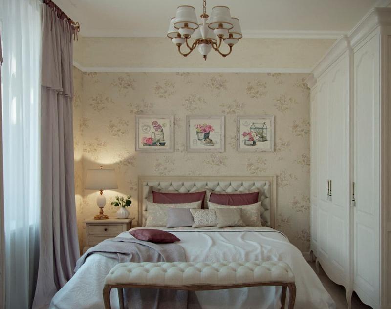 Спальня в стиле прованс в квартире 1