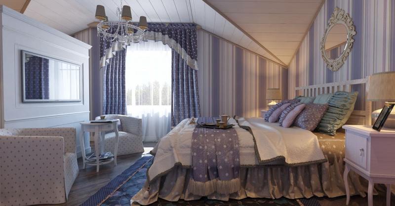 Спальня в стиле прованс в частном доме 1