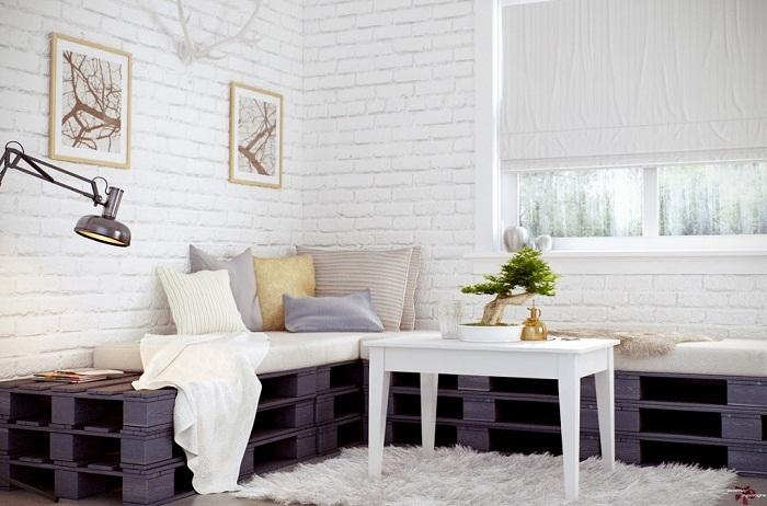 Белый кирпич винтерьере— 40 фото удачных дизайнерских решений