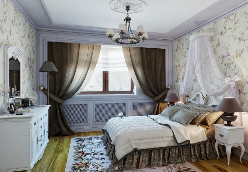 Кровать для спальни в стиле прованс 3