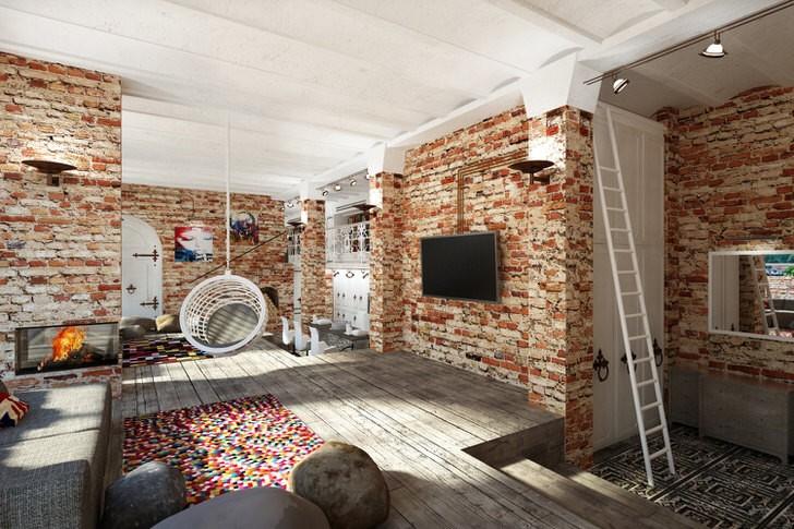 Преимущества стиля лофт для маленькой квартиры-студии