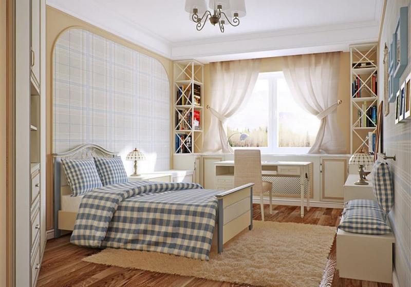 Прованские оттенки в спальне (бежевый)