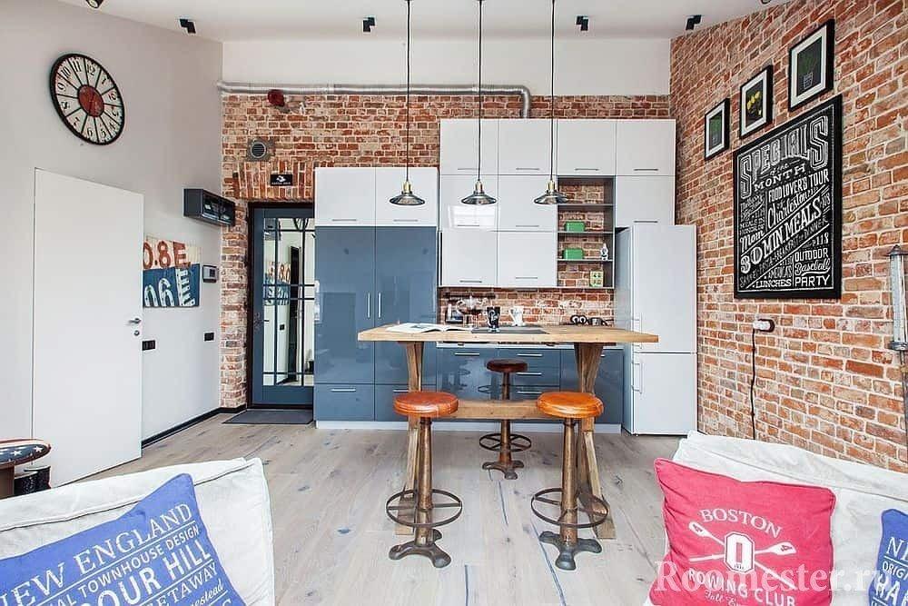 Уютная квартира в стиле лофт