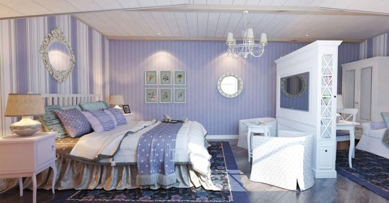 Спальня в стиле прованс в частном доме 2