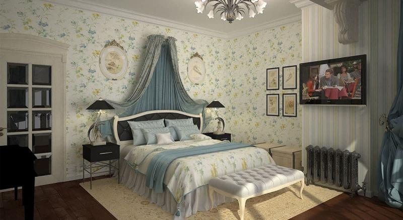 Текстиль для спальни в стиле прованс 5