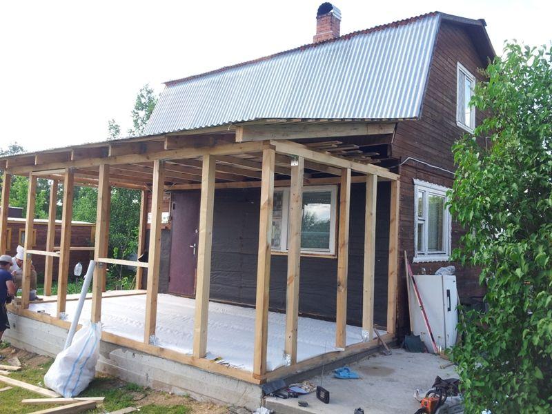 Каркас устанавливается на бетонную основу-фундамент