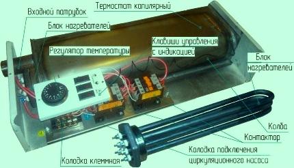 Электрокотел с встроенным терморегулятором
