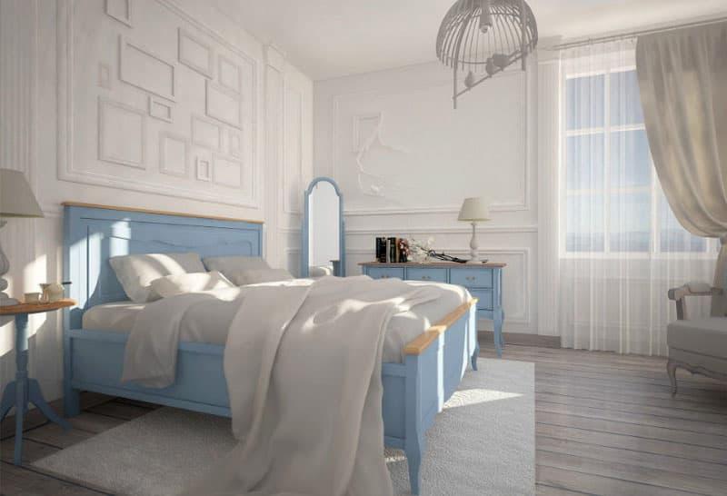 Спальня в стиле прованс в квартире 6