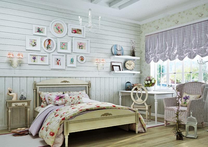 Кровать для спальни в стиле прованс 9