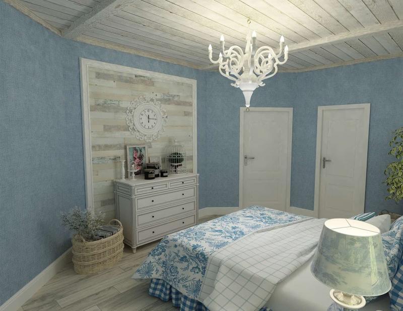 Спальня в стиле прованс в квартире 2