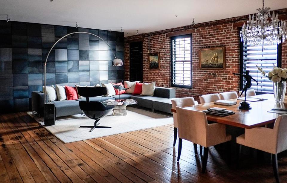 Современный дизайн гостиной с элементами футуризма