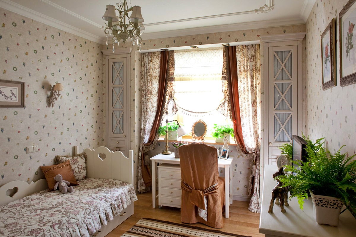 Детская спальня в стиле прованс - фото