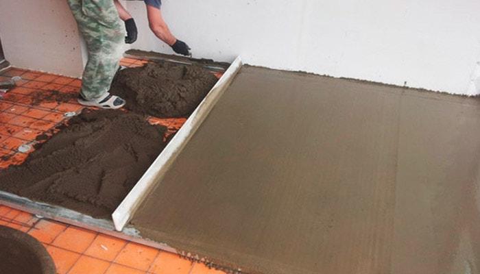 Песчано-цементная стяжка