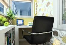 Дизайн кабинета на балконе (фото интерьера)