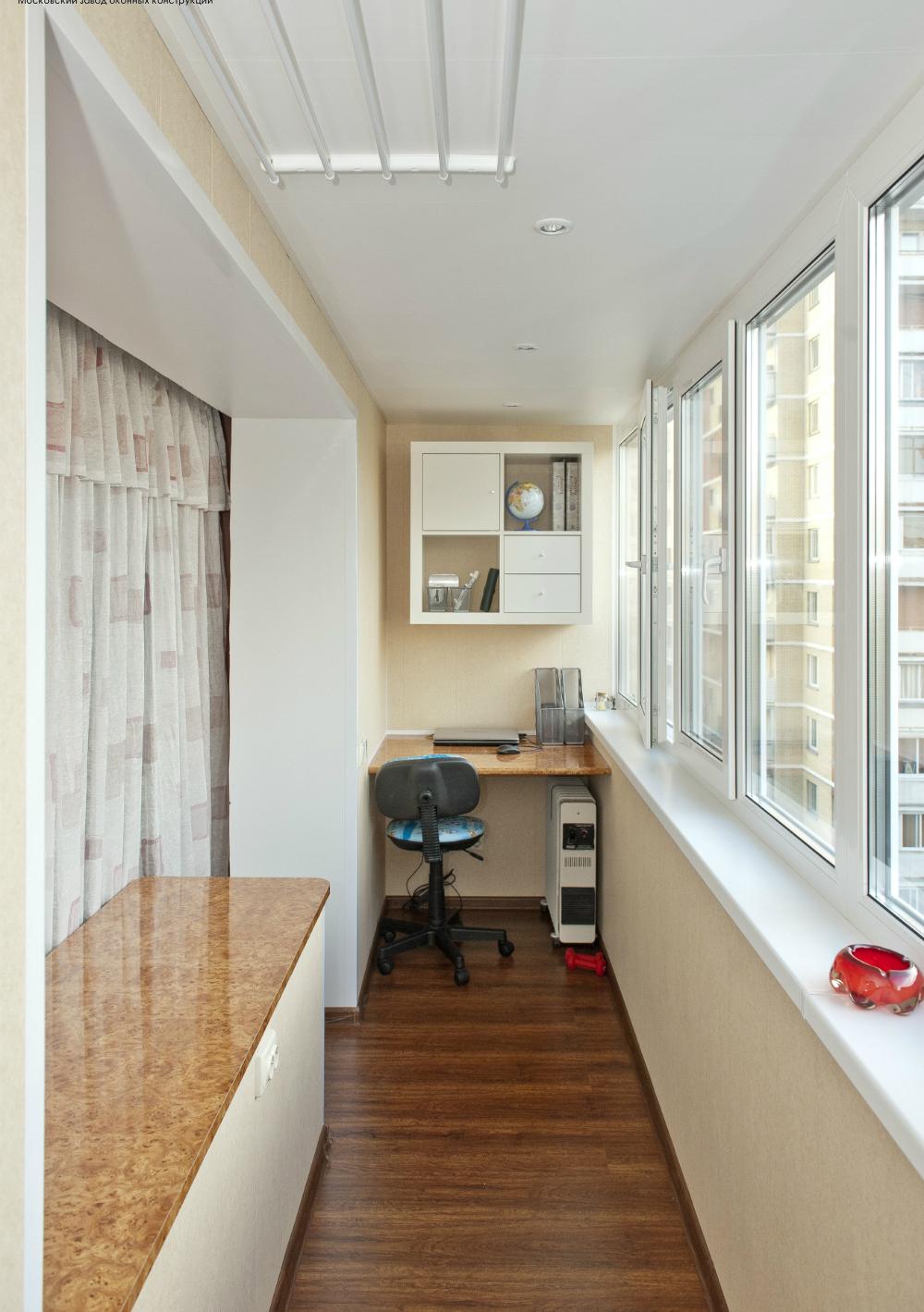 как сделать из балкона кабинет