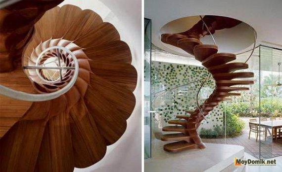 Деревянная винтовая лестница своими руками