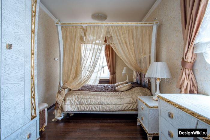 Дизайн спальни в стиле классицизм