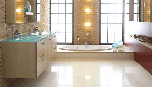 пол в ванной в частном доме, фото 40