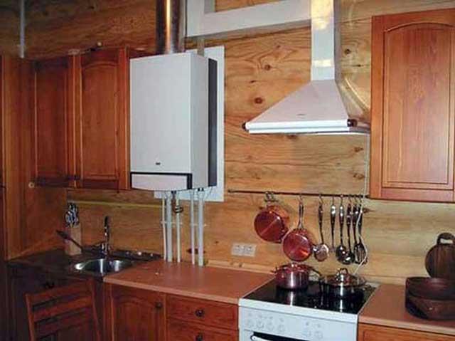 Размещение теплогенератора на кухне