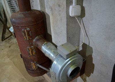 Использование старого газового баллона для печи