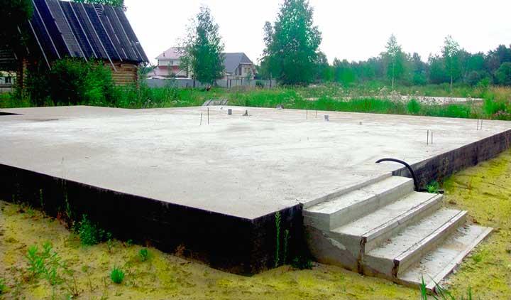 Фундамент для каркасного дома из плит