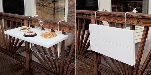 Столик на балконе раскладной