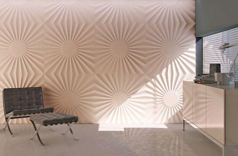 Стеновые 3D-панели из гипса