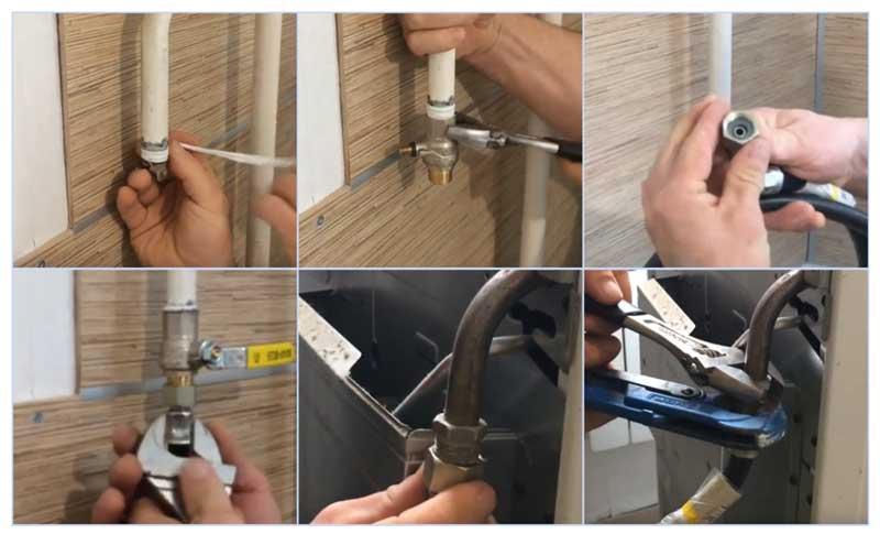 Монтаж газовой подводки для плиты