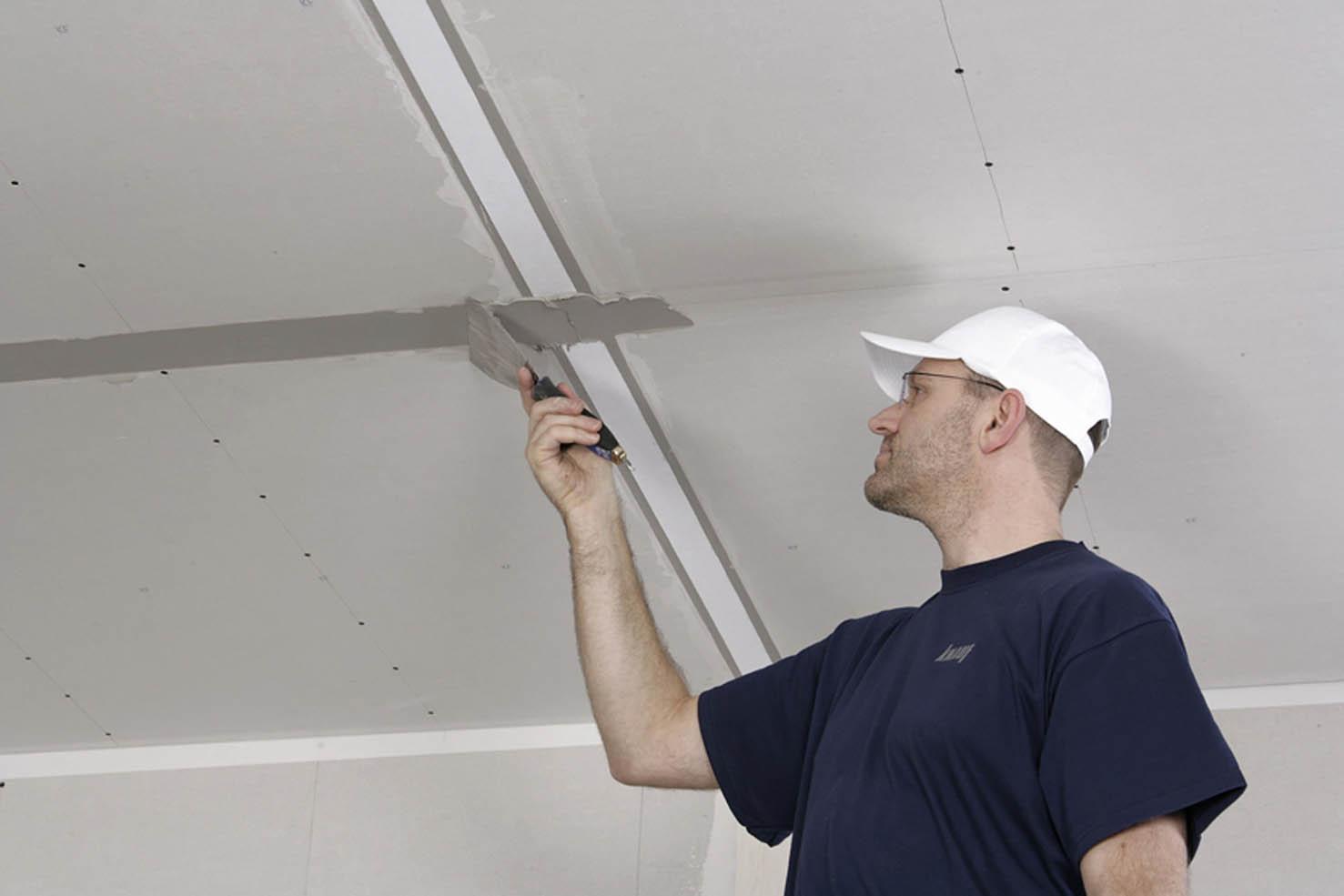 Как сделать потолок из гипсокартона своими руками - пошаговая инструкция