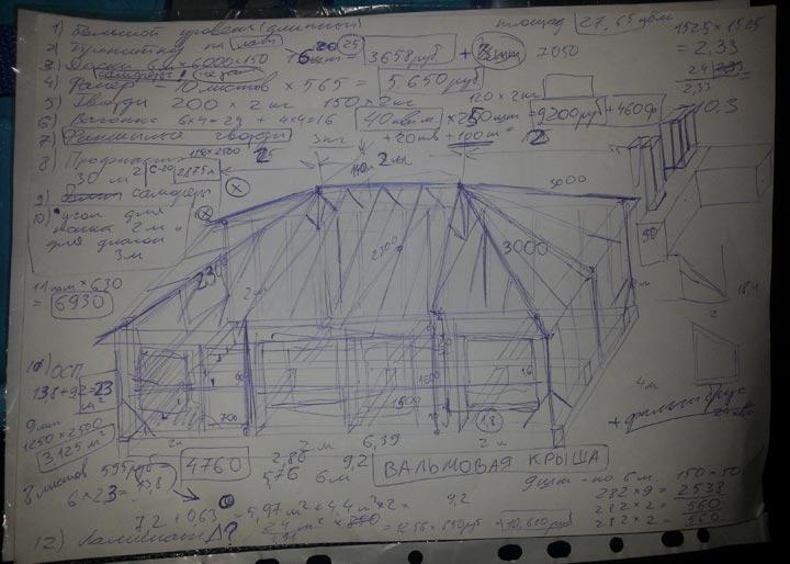 Проект одноэтажного каркасного дома для летнего проживания на фото.