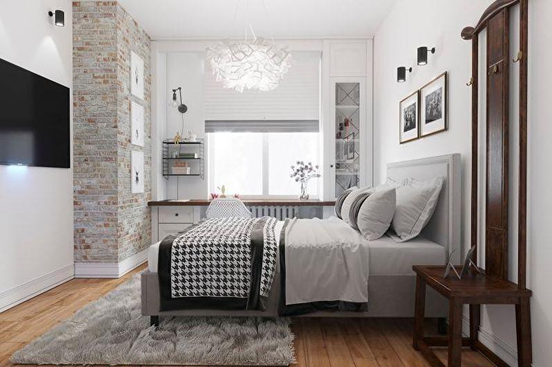 Спальня - Дизайн квартиры в скандинавском стиле