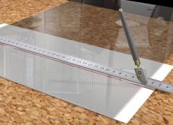 Резка жаропрочного стекла