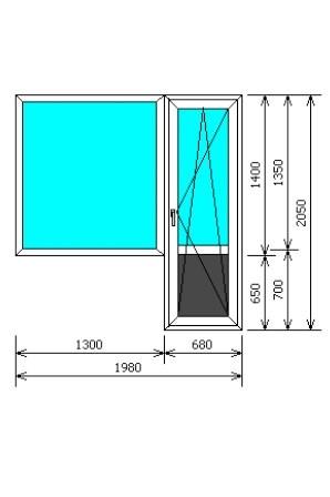 Размеры двери и окна на балкон