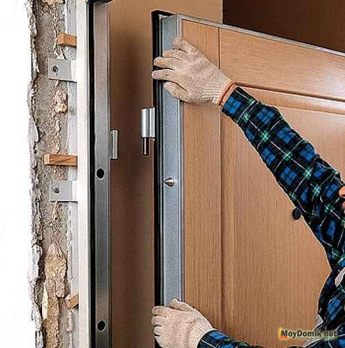 Установка металлической двери своими руками – пошаговая инструкция