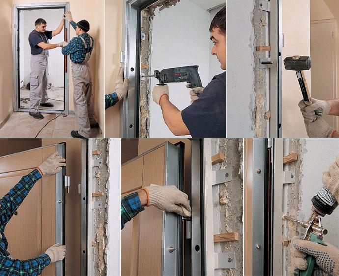 Этап № 7. Установка металлических дверей
